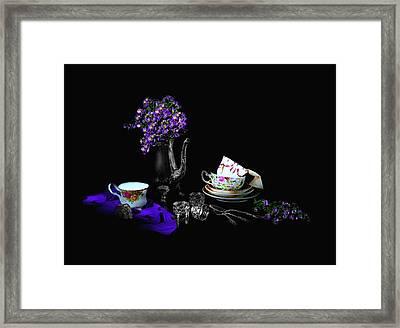 Set For Tea Framed Print by Diana Angstadt