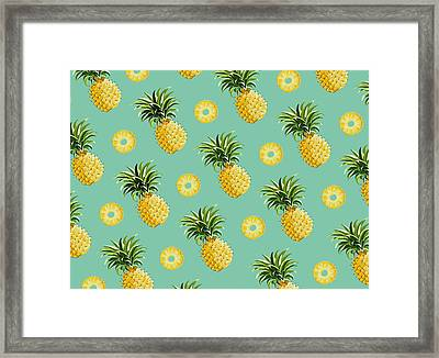 Set Of Pineapples Framed Print
