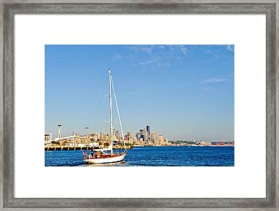 Set Sail Seattle Framed Print by Tom Dowd
