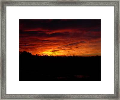 Set The Sun Framed Print by Traci Goebel