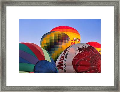 Set Up Framed Print by Tammy Espino