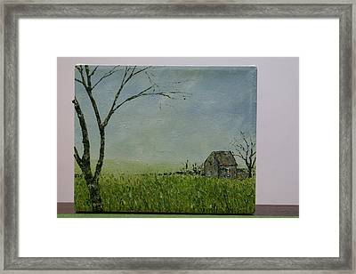 Set Well Back From The Road Framed Print by Pauline Byrne