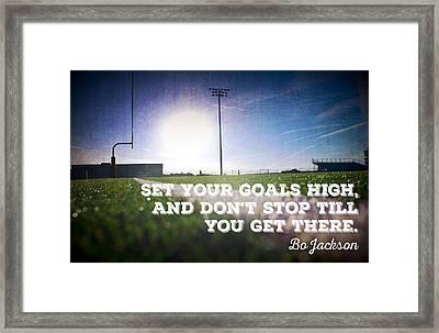 Set Your Goals High... Framed Print by Crista Dearinger