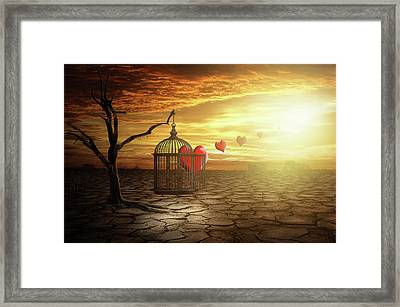 Framed Print featuring the digital art Set Your Self Free by Nathan Wright