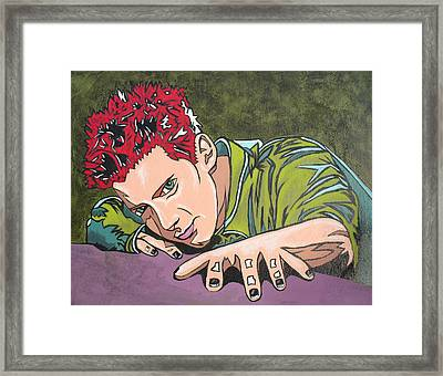 Seth Is Green Framed Print by Sarah Crumpler