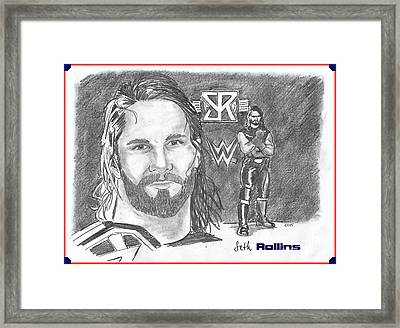 Seth Rollins Framed Print by Chris  DelVecchio