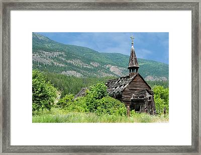 Framed Print featuring the photograph Seton Portage Church 2 by Rod Wiens