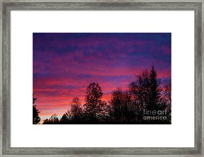 Setting Colors Framed Print by Lloyd Alexander
