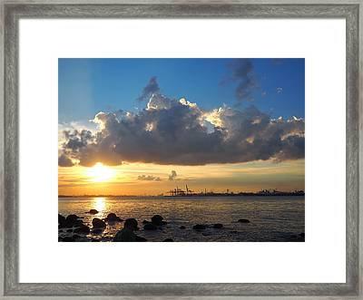 Setting Down Framed Print