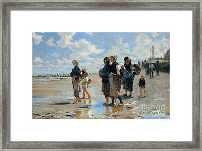 Setting Out To Fish Framed Print by John Singer Sargent