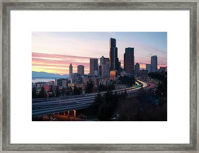 Setting Framed Print by Ryan Manuel