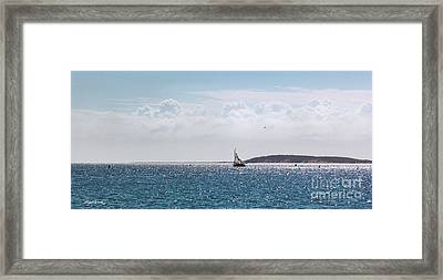 Framed Print featuring the photograph Setting Sail by Michelle Wiarda