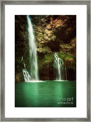 Setting Sun At Dripping Springs Framed Print by Tamyra Ayles