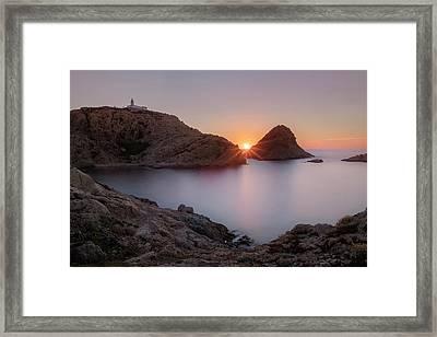 setting sun at L'Ile Rousse - Corsica Framed Print