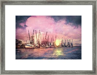 Setting Sun Framed Print by Debra and Dave Vanderlaan