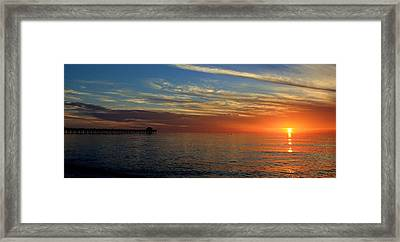 Setting Sun In Naples Framed Print