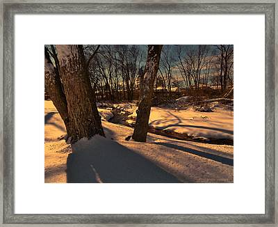 Setting Sun On A Winters Day Framed Print