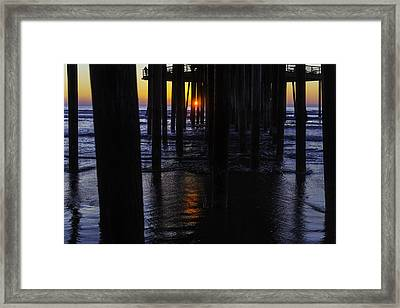 Setting Sun Pismo Beach Framed Print