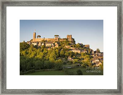 Setting Sunlight Over Turenne Framed Print by Brian Jannsen