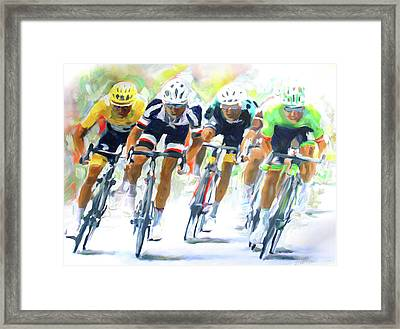 Setting The Pace Framed Print