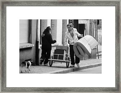 Setting Up Home Framed Print by Jez C Self