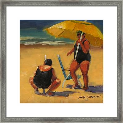 Setting Up Framed Print by Laura Lee Zanghetti
