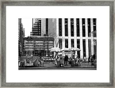 Setting Up On 5th Avenue Framed Print