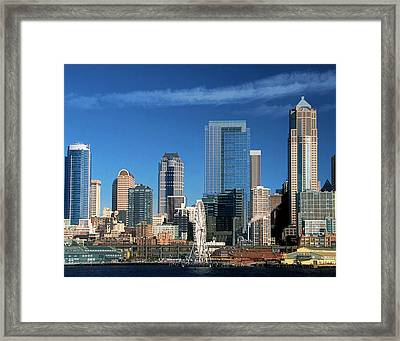 Seattle, Wa, Fine Art Print Framed Print by Greg Sigrist