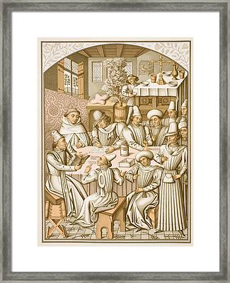 Settlement Of Accounts By The Framed Print by Vintage Design Pics