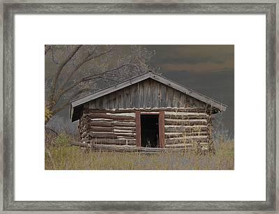 Settler Cabin Framed Print by Ralph Steinhauer