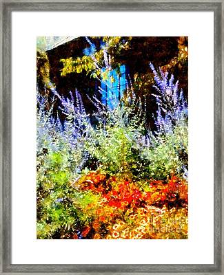 Settlers Inn Garden Reflections Framed Print
