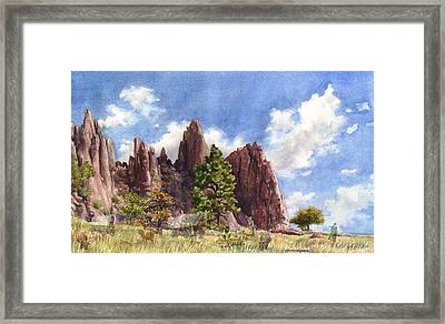 Settler's Park, Boulder, Colorado Framed Print by Anne Gifford