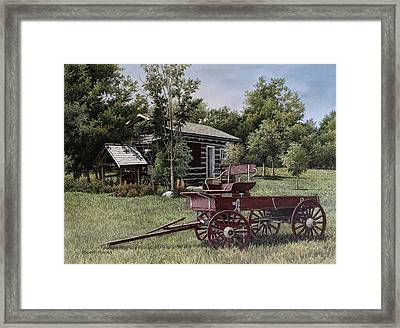 Settlers Village Bobcaygeon Framed Print