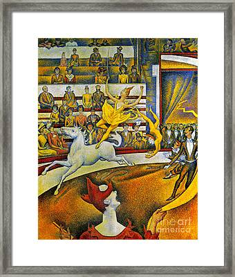 Seurat: Circus, 1891 Framed Print by Granger