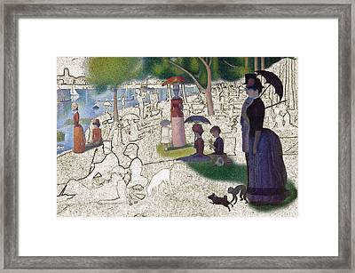 Seurat Sunday Afternoon Framed Print by Karla Beatty