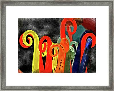 Framed Print featuring the mixed media Seuss' Canes by Trish Tritz