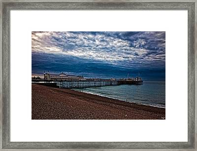 Seven Am On Brighton Seafront Framed Print by Chris Lord