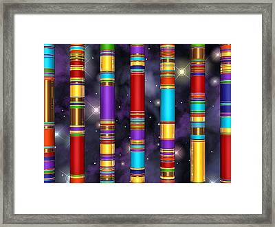 Seven Framed Print by Andreas Thust