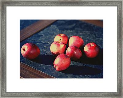 Seven Apples Framed Print by Susie DeZarn