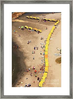 Seven At Bocagrande Framed Print by John Rizzuto