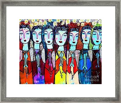 Seven Blue Spanish Angels Framed Print