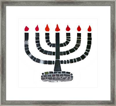 Seven-branched Temple Menorah Framed Print