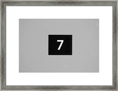 Framed Print featuring the photograph Seven by Christi Kraft