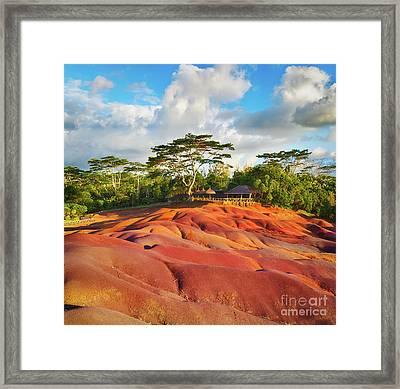 Seven Colour Earth. Mauritius.  Framed Print