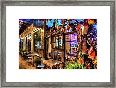 Seven Days At Ginos Framed Print