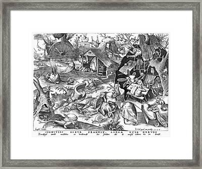 Seven Deadly Sins: Sloth Framed Print by Granger