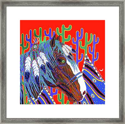 Seven Feathers Framed Print by Debbie Chamberlin