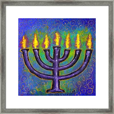 Framed Print featuring the painting Seven Flames by Angela Treat Lyon