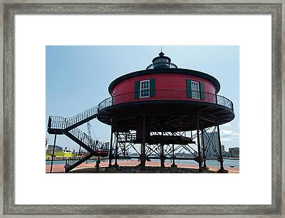 Seven-foot Knoll Lighthouse Framed Print