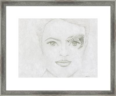 Framed Print featuring the drawing Seven by Kim Sy Ok
